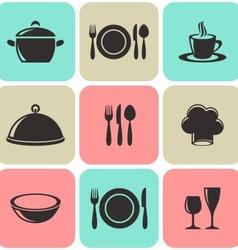 Restaurant menu icons vector