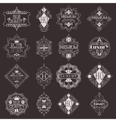 Retro Design Luxury Insignias Logotypes Template vector image