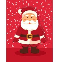 Santa standing in red vector