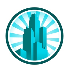 Skyscraper icon vector