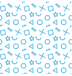 stylish seamless pattern of simple blue geometric vector image vector image