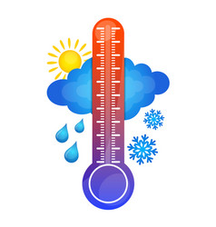 Symbol of temperature change vector