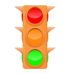 Traffic light sand color vector