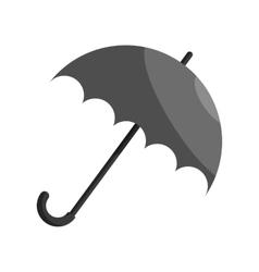 Umbrella icon black monochrome style vector image vector image