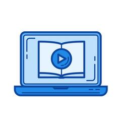 video tutorial line icon vector image