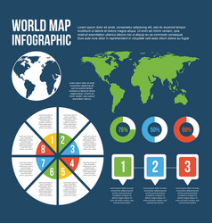 world map infographic chart diagram information vector image