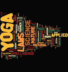 Yoga for stress relief text background word cloud vector