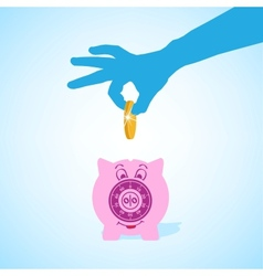 piggy-bank vector image