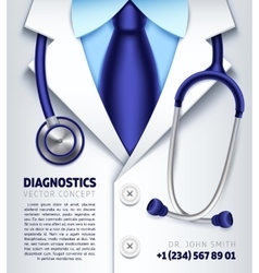 Doctor stethoscope background medical vector
