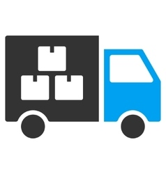Goods transportation car flat icon vector
