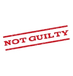 Not guilty watermark stamp vector
