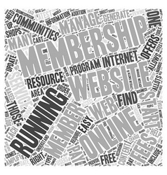 Resource for running a membership website word vector