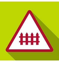 Warning sign icon flat style vector