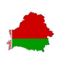 belarusian map on a white background vector image