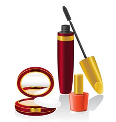 Set cosmetics 02 vector