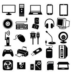 Computer peripheral icon vector