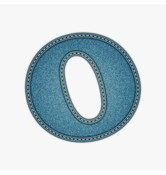 Denim letter jeans alphabet vector