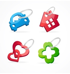 Key chain collection and rings vector