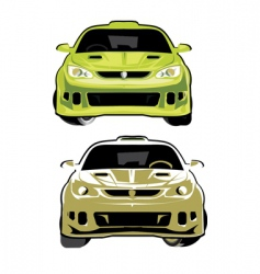 Rally car vector