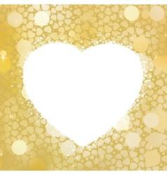 Golden Heart bokeh frame with copy space EPS 8 vector image