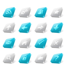 3d web buttons vector image vector image