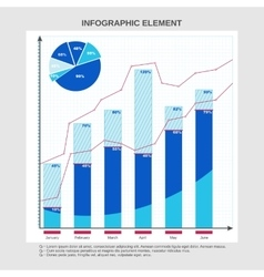 Graphic design for business pie chart table vector