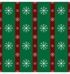 Floral snowflakes green red stripes christmas vector