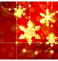 Banner with snowflake ornaments vector