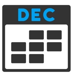 December flat icon vector