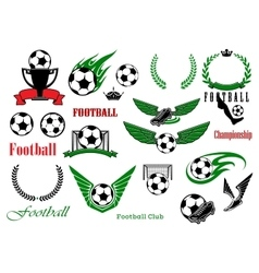 Football or soccer sport game design elements vector