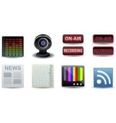 media publishing icons vector image