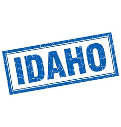 Idaho blue square grunge stamp on white vector