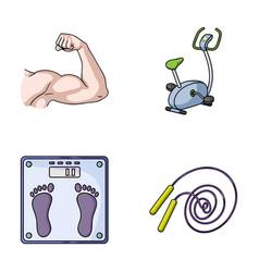 Biceps exercise bike scales for weighing skalka vector
