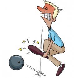 bowling injury vector image vector image