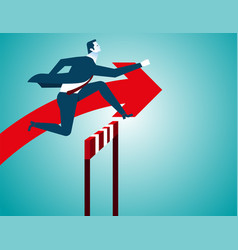 businessman jumping vector image vector image