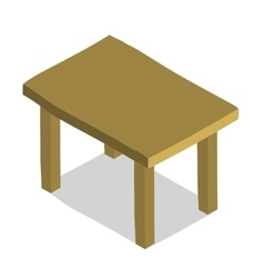 cartoon flat Table icon vector image