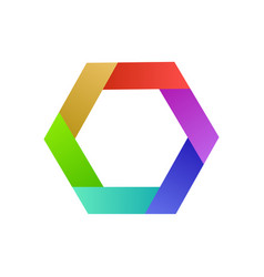 colorful logo design hexagon abstract idea for vector image vector image