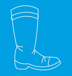 Cowboy boot icon outline style vector