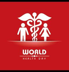 Creative World Health Day Greeting vector image