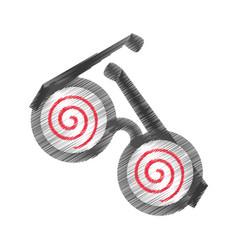 Drawing funny eyeglasses april fools vector