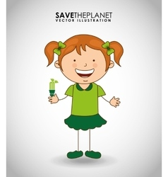 ecological kids vector image vector image