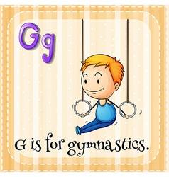 Flashcard alphabet g is for gymnastics vector
