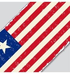 Liberian grunge flag vector