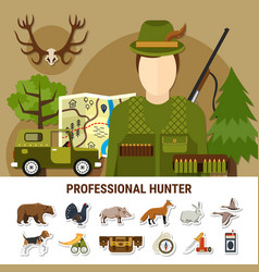 professional hunter concept vector image vector image
