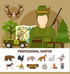 Professional hunter concept vector