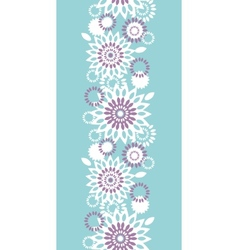 Purple and blue floral abstract vertical seamless vector image vector image