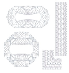 Rosettes and border vector image