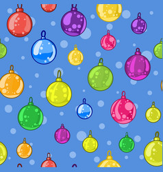 seamless pattern of christmas tree balls vector image