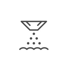 Seeding line icon vector