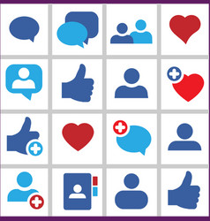 Set icon social network vector